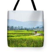 The Rape Flowers Field Scenery Tote Bag by Carl Ning