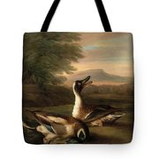 Two Drakes In Landscape Tote Bag