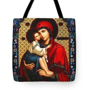 Virgin And Child Icon Religious Art Tote Bag