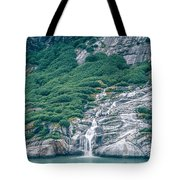 Waterfall In Tracy Arm Fjord, Alaska Tote Bag