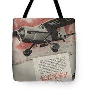 World War II Advertisement Tote Bag