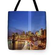 911 Tribute In Light In Nyc II Tote Bag