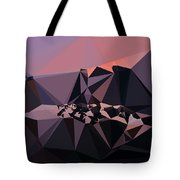 Abstract Art Landscape Of Triangles Tote Bag