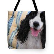 #940 D1037 Farmer Browns Springer Spaniel Happy Tote Bag