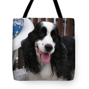 #940 D1038 Farmer Browns Springer Spaniel Adorable Happy Tote Bag
