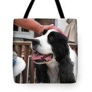 #940 D1041 Farmer Browns Springer Spaniel Good Girl Good Boy Attaboy Tote Bag