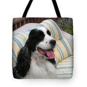 #940 D1066 Farmer Browns Springer Spaniel Happy Tote Bag