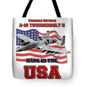 A-10 Thunderbolt Made In The Usa Tote Bag