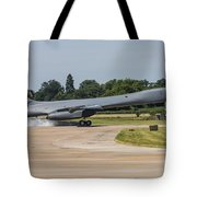A B-1b Lancer Of The U.s. Air Force Tote Bag