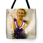 A Baltimore Ravens Cheerleader  Tote Bag