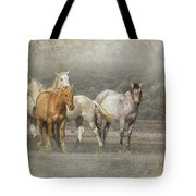A Band Of Horses Tote Bag