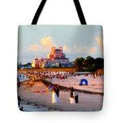 A Beach Scene Tote Bag