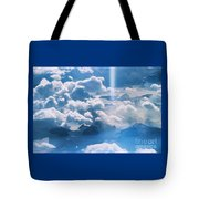 A Beam Of Heavenly Light Tote Bag