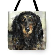 A Beautiful Artistic Painting Of A Dachshund  Tote Bag