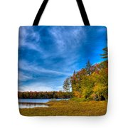 A Beautiful Autumn Day On West Lake Tote Bag