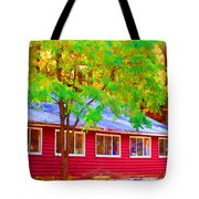 A Beautiful Country Building In The Fall 1 Tote Bag