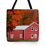 A Beautiful Country Building In The Fall 2 Tote Bag