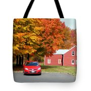 A Beautiful Country Building In The Fall 4 Tote Bag