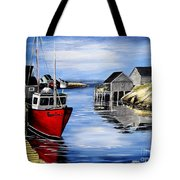 A Beautiful Day At Peggy's Cove  Tote Bag