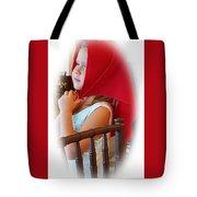 A Beautiful Girl Dreaming Tote Bag
