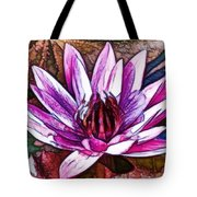 A Beautiful Purple Water Lilies Flower Tote Bag