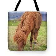 A Beautiful Red Mane On An Icelandic Horse Tote Bag