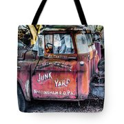 A Beautiful Rusty Old Tow Truck Tote Bag by Dennis Dame