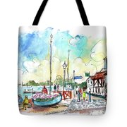 A Beautiful Street In Watchet Tote Bag