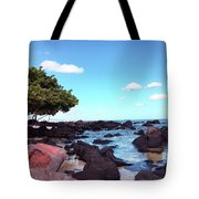 A Beautiful View Of The Sea From Mauritius Tote Bag