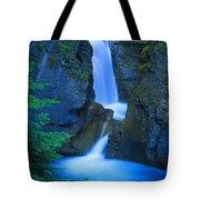 A Beautiful Waterfall, Johnston Canyon Tote Bag
