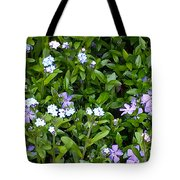 A Bed Of Blooms Tote Bag