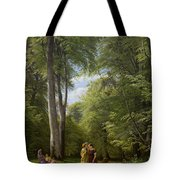 A Beech Wood In May Near Iselingen Manor Tote Bag
