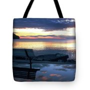 A Bench To Reflect Tote Bag
