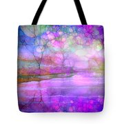 A Bewitching Purple Morning Tote Bag