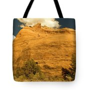 A Big Mountainous Rock On The Gemini Trail Moab Utah  Tote Bag