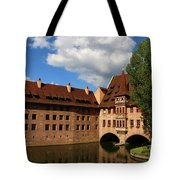 A Big Sky Over Old Architecture Tote Bag