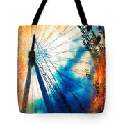 A Big Wheel Roller Coaster Ride Under A Sunset Tote Bag