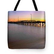 A Biloxi Pier Sunset - Mississippi - Gulf Coast Tote Bag