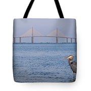 A Bird And A Bridge Tote Bag