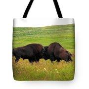 A Bison Brawl Tote Bag