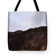 A Bleak Burned Slope In The Foothills Of The Southwest Sierra Nevadas Tote Bag