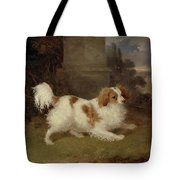 A Blenheim Spaniel Tote Bag by William Webb