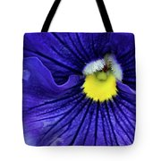 A Blue Pansy Tote Bag