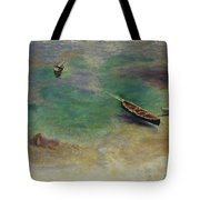 A Boat In The Waters Off Capri Tote Bag
