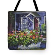 A Boat Load Of Zinnias Tote Bag