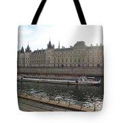 A Boat On The River Seine Tote Bag