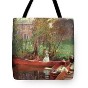A Boating Party  Tote Bag by John Singer Sargent