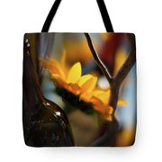 A Bottle And Sunflowers Tote Bag