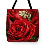 A Bouquet Of Red Roses Tote Bag