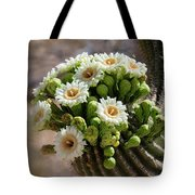 A Bouquet Of Saguaro Blossoms Tote Bag